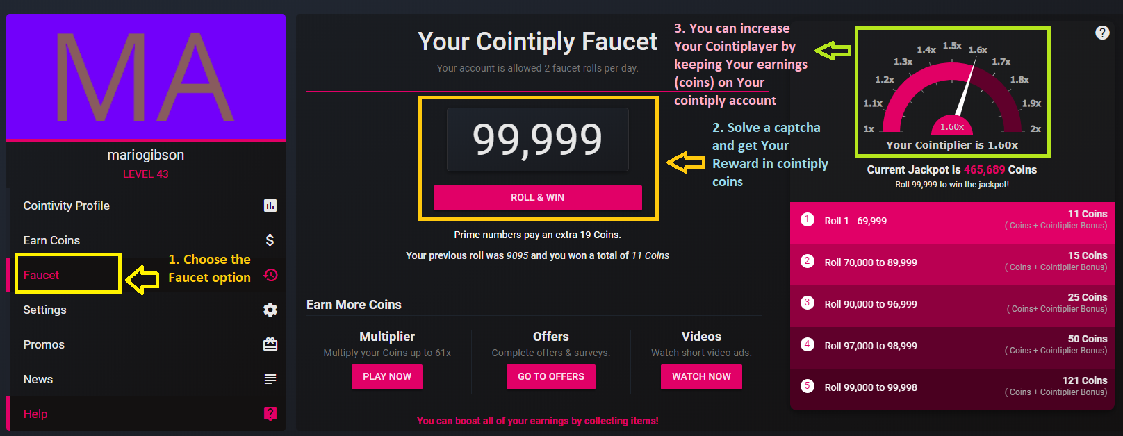 take free bitcoins on cointiply faucet